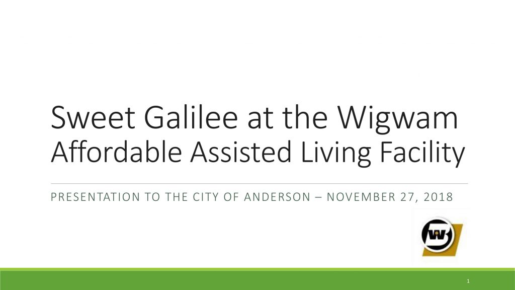 Sweet Galilee at the Wigwam AALF - Presentation to the City of Anderson 11.27.18-01